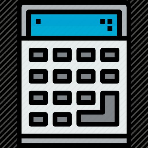 calculator, device, hardware, technology icon