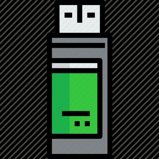 device, drive, flash, hardware, technology icon