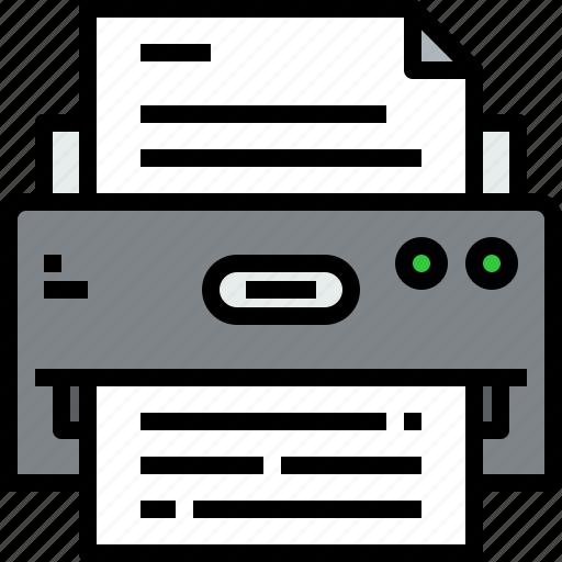 device, hardware, printer, technology icon