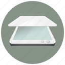 copy, copydoc, device, information, paper, scanner, technology icon