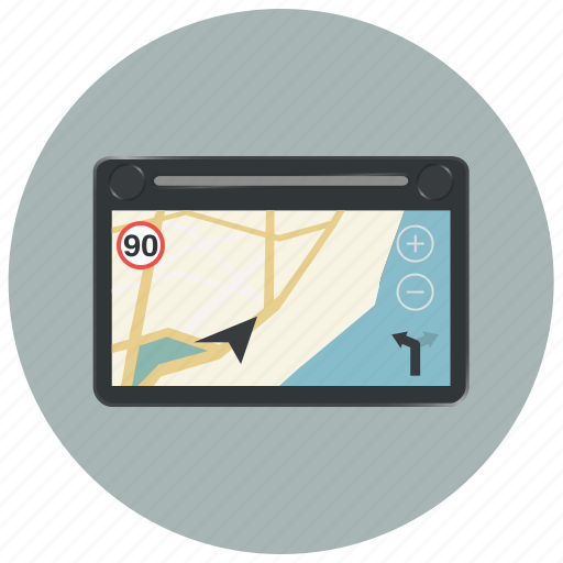 device, gps, locate, location, map, navigation, navigator icon