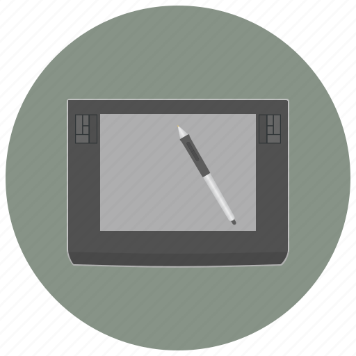 creative, device, drawing, graphic, pen, tablet, technology icon