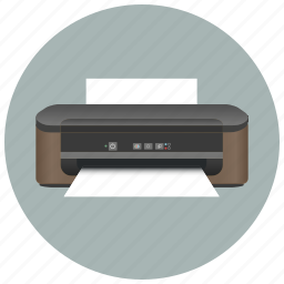device, document, equipment, print, printer, printout, scanner icon