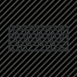 communication, computer, device, keyboard, technology, write, writing icon