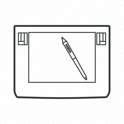 device, drawing, mobile, pen, tables, tablet, writing icon