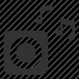 audio, gadget, loud, mini speaker, music, song, speaker icon