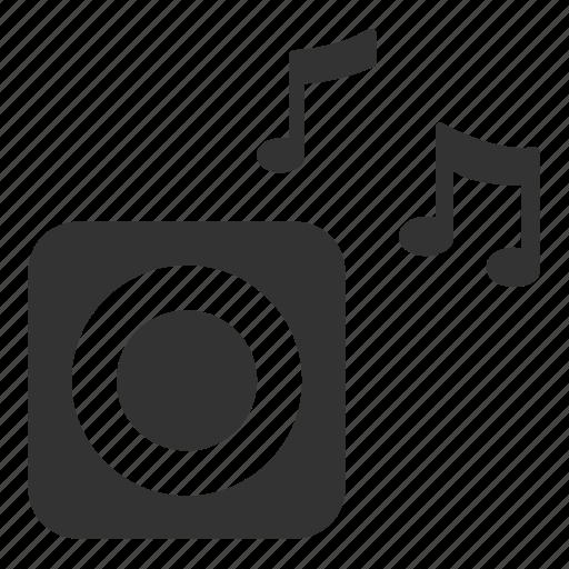 Loud, mini speaker, music, song, speaker, gadget, audio icon - Download on Iconfinder