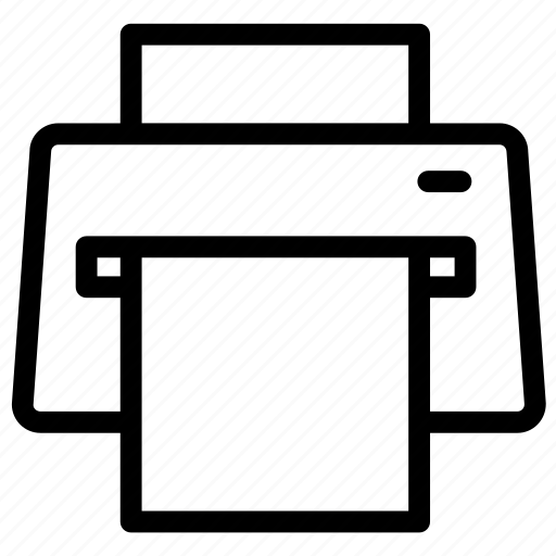 device, marker, pin, print, printer icon
