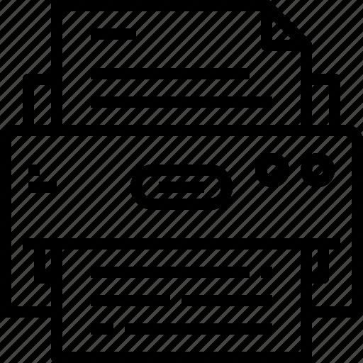 device, printer, technology icon