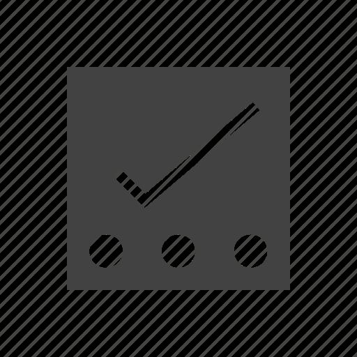 checklist, list, notes, points, reminders, tasks, tick icon