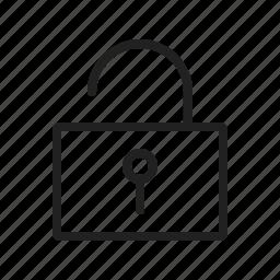 key, keyhole, lock, open, safety, security, unlocked icon