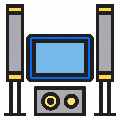 appliance, device, electronic, home, household, theater icon