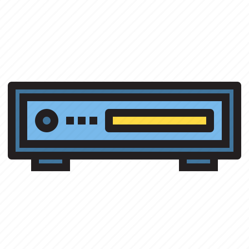 appliance, device, electronic, household, player, vdo icon