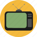 antenna, devices, screen, show, tv, vintage icon