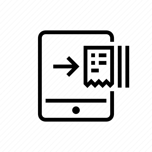 billing, office, receipt, tablet icon