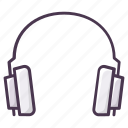audio, headphone, headset, hear, listen, music, play icon
