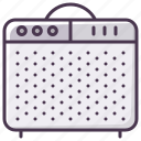 amp, box, guitar-amp, guitar-amplifier, instrument, sound amplifier, sound-producer icon