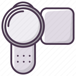 appliances, camera, device, electronics, movie, technology, video icon