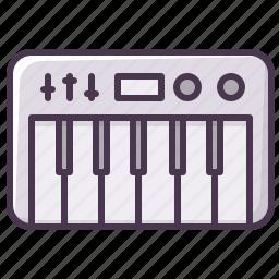 appliances, device, electronics, music, piano, synthesizer icon