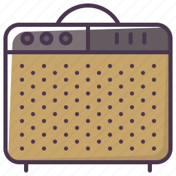 amp, guitar-amp, guitar-amplifier, instrument, sound amplifier, sound-producer, speaker icon
