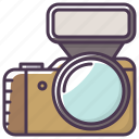 appliances, camera, device, electronics, flash, photographer icon