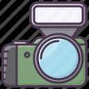 appliances, camera, device, electronics, flash, photographer icon