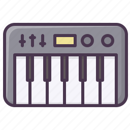 appliances, device, electronics, music, piano, synthesizer icon