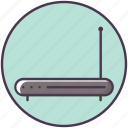antenna, double, internet, online, router, web, wifi icon
