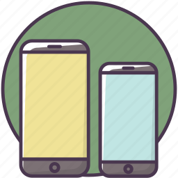device, iphone, mobilephone, phone, size, smartphone, telephone icon