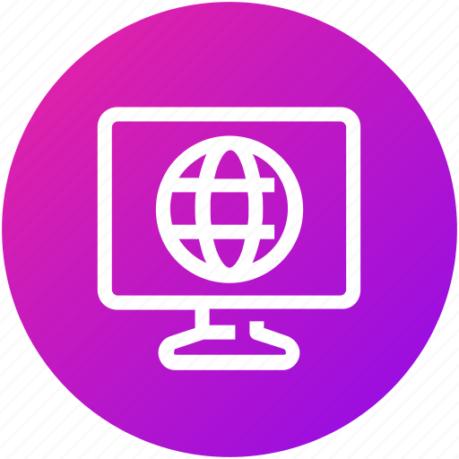 device, entertainment, globe, internet, news, television icon
