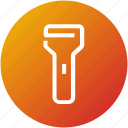 bulb, device, flashlight, light, torch icon