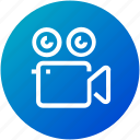 camera, device, film, roll, video icon