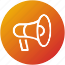 device, loud, megaphone, promotion, speaker icon