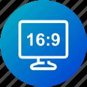aspect, device, display, hd, ratio icon