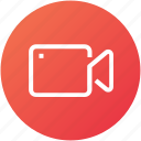 camcorder, camera, device, record, video icon