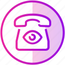call, device, eye, phone, spy, telephone icon