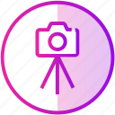 camera, device, dslr, photography, picture, tripod icon