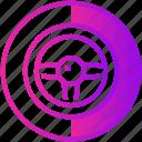 device, game, handle, racing, wheel icon