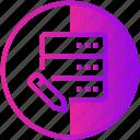 data, database, device, edit, server icon