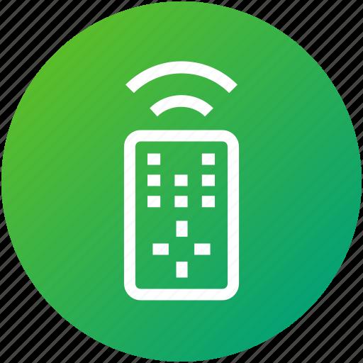 control, device, remote, tv remote, wireless icon