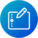 device, draw, edit, graphic, table, wacom icon