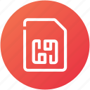 card, memory, phone, sim, simcard icon