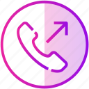 call, device, mobile, outgoing, phone icon