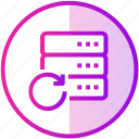 data, database, device, server, update icon