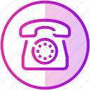call, device, disc, phone, stationary, telephone icon