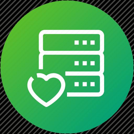 data, database, device, love, server icon