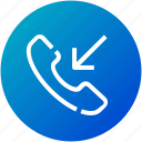 call, device, incoming, mobile, phone icon