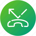 call, device, handset, missed, phone icon