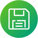 device, diskette, floppy, save, storage icon