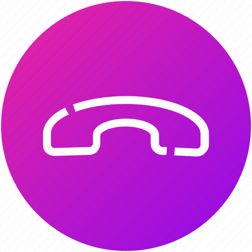 call, decline, device, handset, hang-up, phone icon